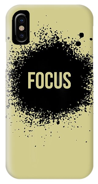 Quote iPhone Case - Focus Poster Grey by Naxart Studio