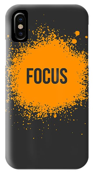 Orange iPhone Case - Focus Splatter Poster 3 by Naxart Studio