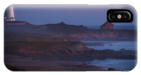 Fog Forming Over Piedras Blancas....  San Simeon IPhone Case