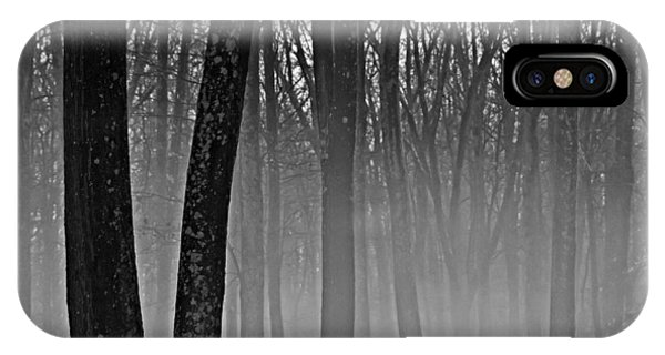 Fog In The Dark Forest IPhone Case