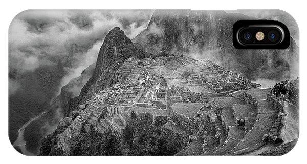 Peru iPhone Case - Fog In The Machu Picchu by Richard Huang