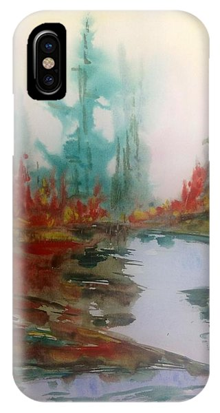 Fog In The Woods - Fall Phone Case by Desmond Raymond
