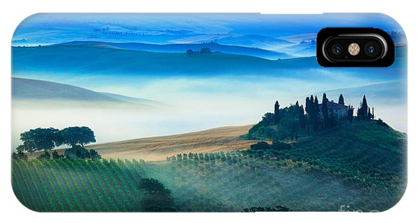Fog In Tuscan Valley IPhone Case