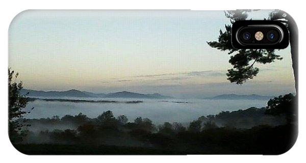 Fog Mountain Lake IPhone Case