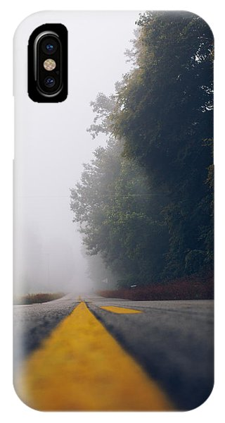 Fog On Highway IPhone Case