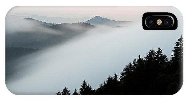 Treeline iPhone Case - Fog On The Mountain by Bill Swindaman