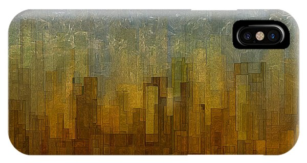 Visual Illusion iPhone Case - Fog Over Midtown by Jack Zulli