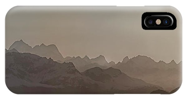 Glacier Bay iPhone Case - Fog Over Mountain In Glacier Bay by Panoramic Images