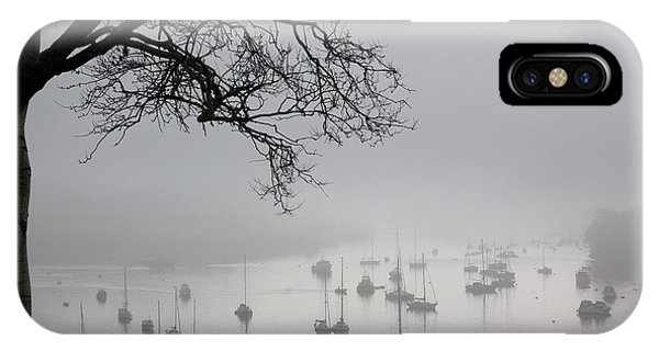 Drown iPhone Case - Fog Over Salcombe Estuary by Adam Hart-davis/science Photo Library