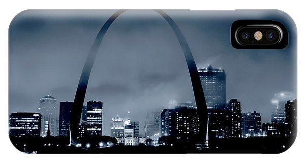 Fog Over St Louis Monochrome IPhone Case