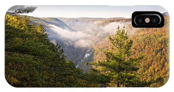 Fog Over The Canyon IPhone Case