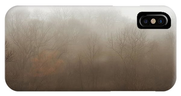 Fog Mist iPhone Case - Fog Riverside Park by Scott Norris