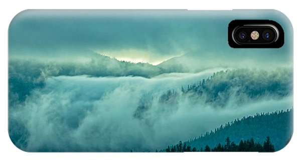 Fog Rolling Over The Montana Rocky Mountains Phone Case by Natural Focal Point Photography