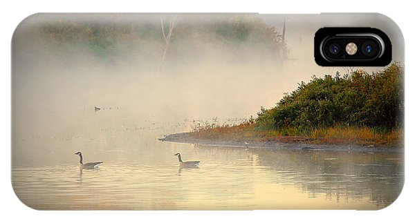 Foggy Autumn Swim IPhone Case