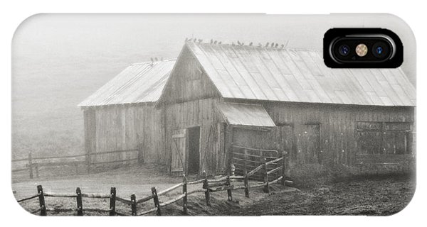 Foggy Barn IPhone Case