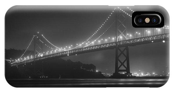 Foggy Bay Bridge IPhone Case