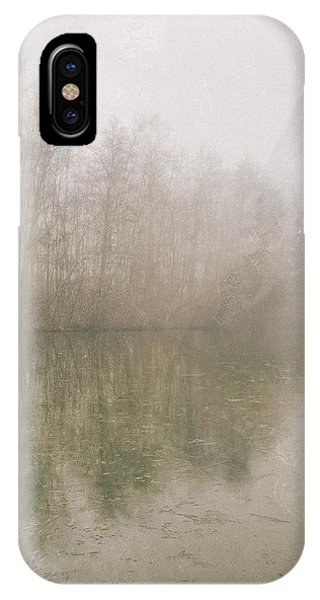 Foggy Day On The Border Of The Lake IPhone Case