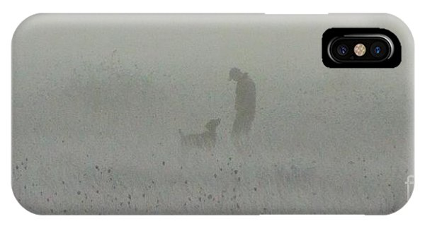 Foggy Dog Walk IPhone Case