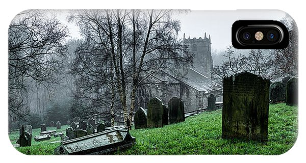 Foggy Fewston Cemetery IPhone Case