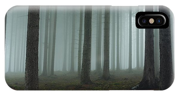 Morning Mist iPhone Case - Foggy Forest by David Charouz