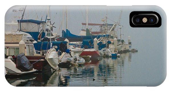 Foggy Harbor IPhone Case