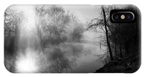 Foggy Misty Morning Sunrise On James River IPhone Case