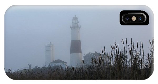 Foggy Montauk Lighthouse IPhone Case