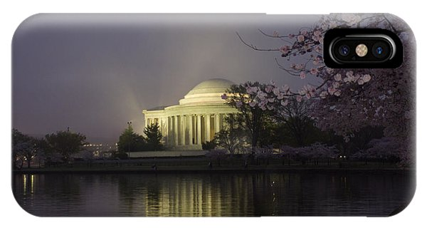 Foggy Morning At The Jefferson Memorial 1 IPhone Case