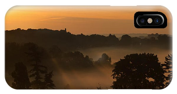 Foggy Morning At Valley Forge IPhone Case