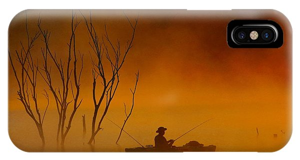 Foggy Morning Fisherman IPhone Case