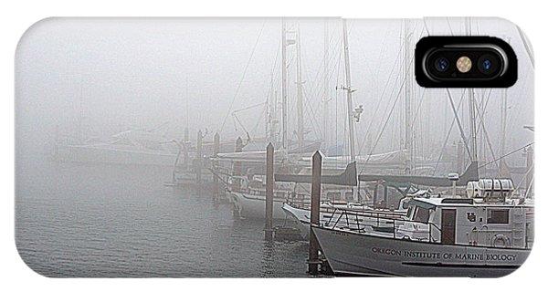 Foggy Morning In Charleston Harbor IPhone Case