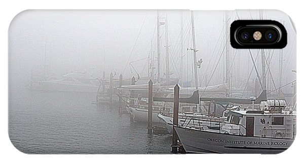 Foggy Morning In Charleston Harbor IPhone Case