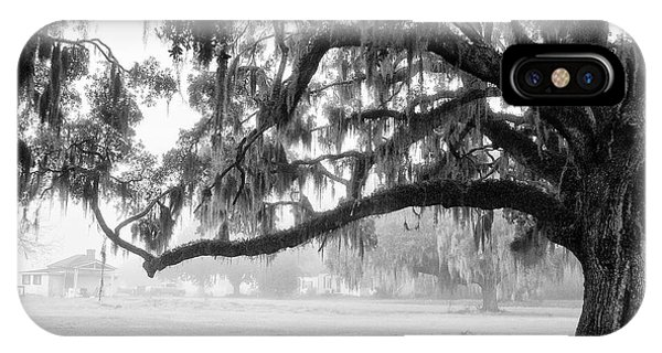 Foggy Morning On Coosaw Plantation IPhone Case