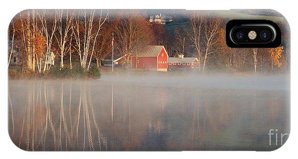 Foggy Morning On Lake Pineo IPhone Case