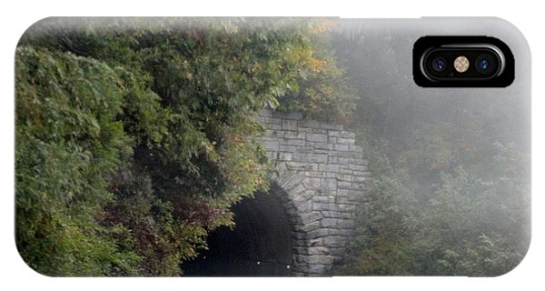 Foggy Morning On Parkway Phone Case by Melony McAuley