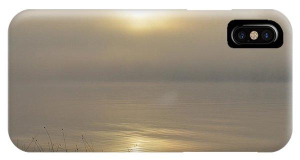 Sherri iPhone Case - Foggy Morning On The Lake by Sherri Abell