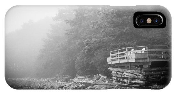 Foggy Morning Overlook Phone Case by David Pinsent