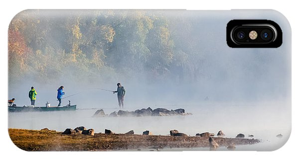Foggy Morning St Croix River Stillwater Mn IPhone Case
