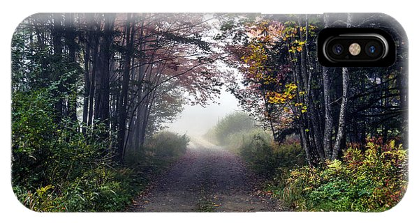 Foggy Morning - Stowe Vermont IPhone Case