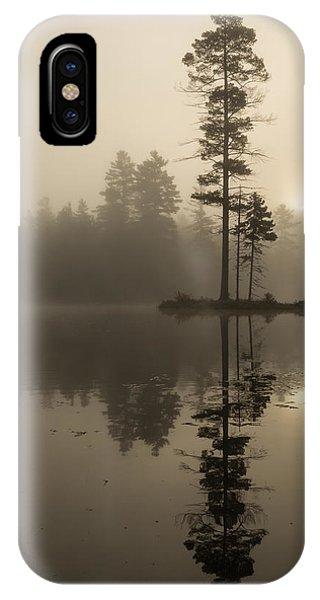Foggy Morning Sunrise At The Lake IPhone Case