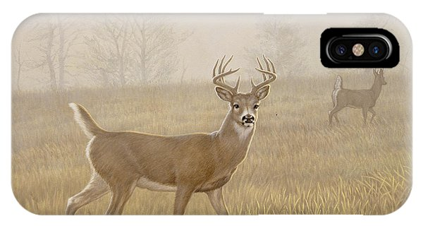 Fall iPhone Case - Foggy Morning-whitetail by Paul Krapf