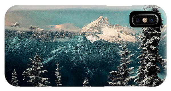 Treeline iPhone Case - Foggy Mountain by Ryan McGinnis