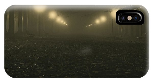 Foggy Night In A Park IPhone Case