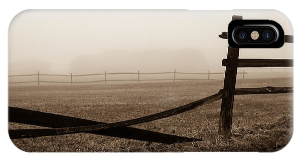 Foggy Pasture IPhone Case