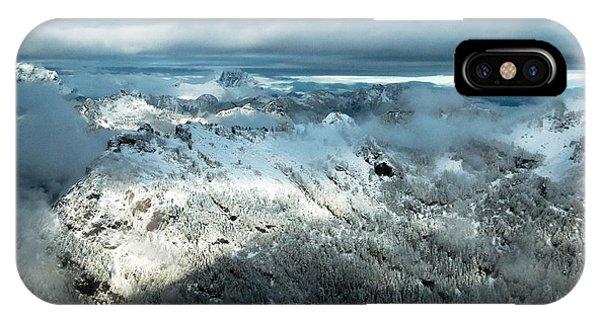 Treeline iPhone Case - Foggy Ridge by Ryan McGinnis