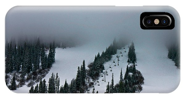 Foggy Ski Resort IPhone Case