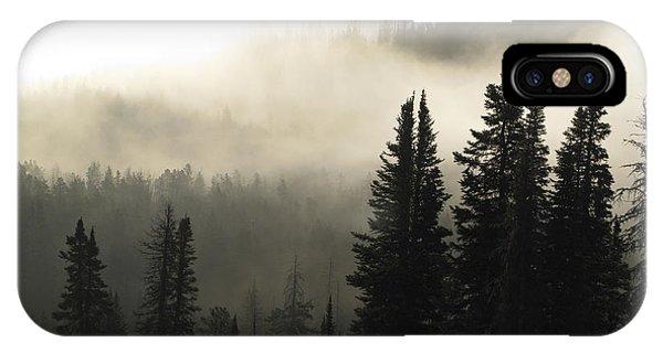 Foggy Sunrise At Yellowstone IPhone Case