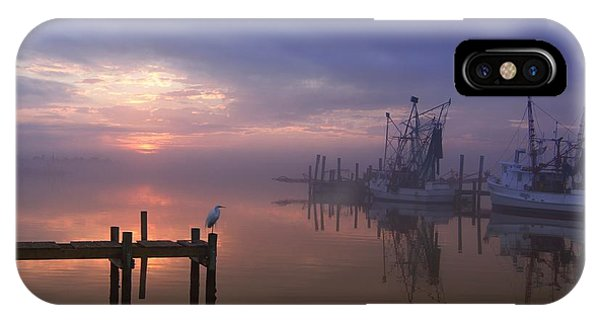 Foggy Sunset Over Swansboro IPhone Case