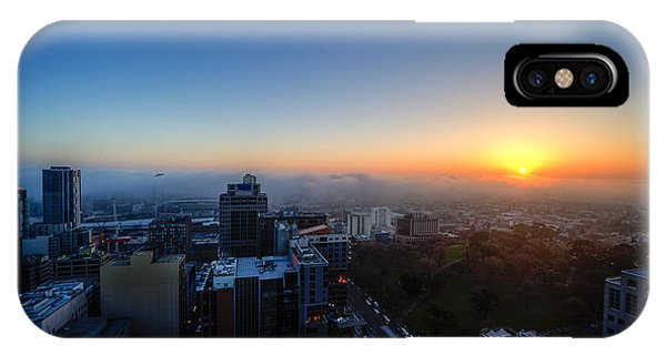 Foggy Sunset IPhone Case