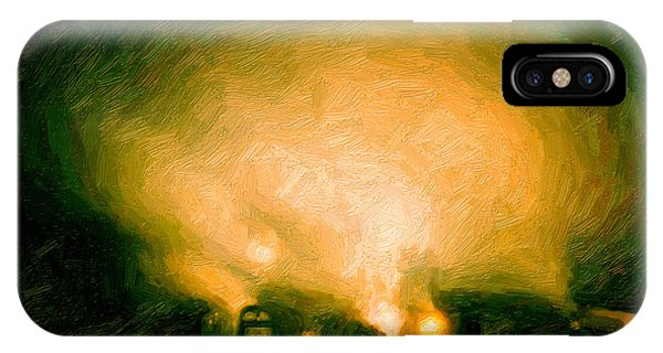 Foggy Switchyard IPhone Case
